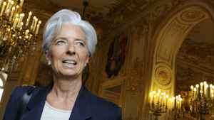 French Finance Minister Christine.