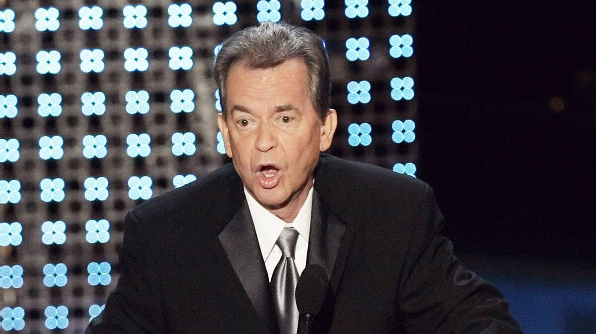 Dick Clark speaks after receiving a special Emmy tribute at the 58th Annual Primetime Emmy Awards Sunday, Aug. 27, 2006, at the Shrine Auditorium in Los Angeles.