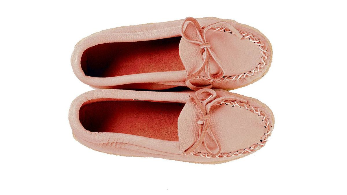 Put a new spin on the gift of slippers with a pair of suede moccasins in a fresh shade of pink. Deerskin slippers, $86 at Hides in Hand. hidesinhand.ca