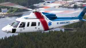 A BC Air Ambulance helicopter.