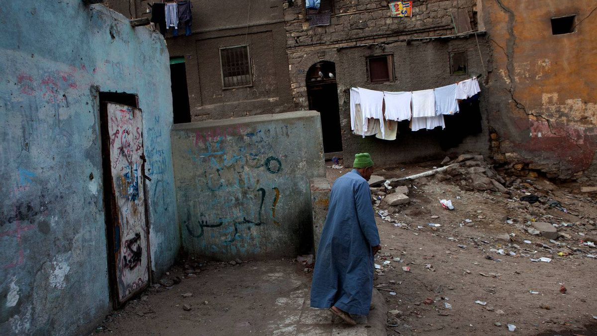 A section of one of the poorest sections of Cairo's Sayeda Zeinab neighborhood on November 24, 2011.
