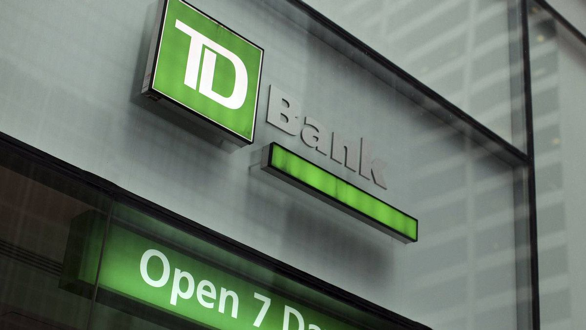 The outside of a TD Bank branch is seen in New York, Jan. 17, 2012.