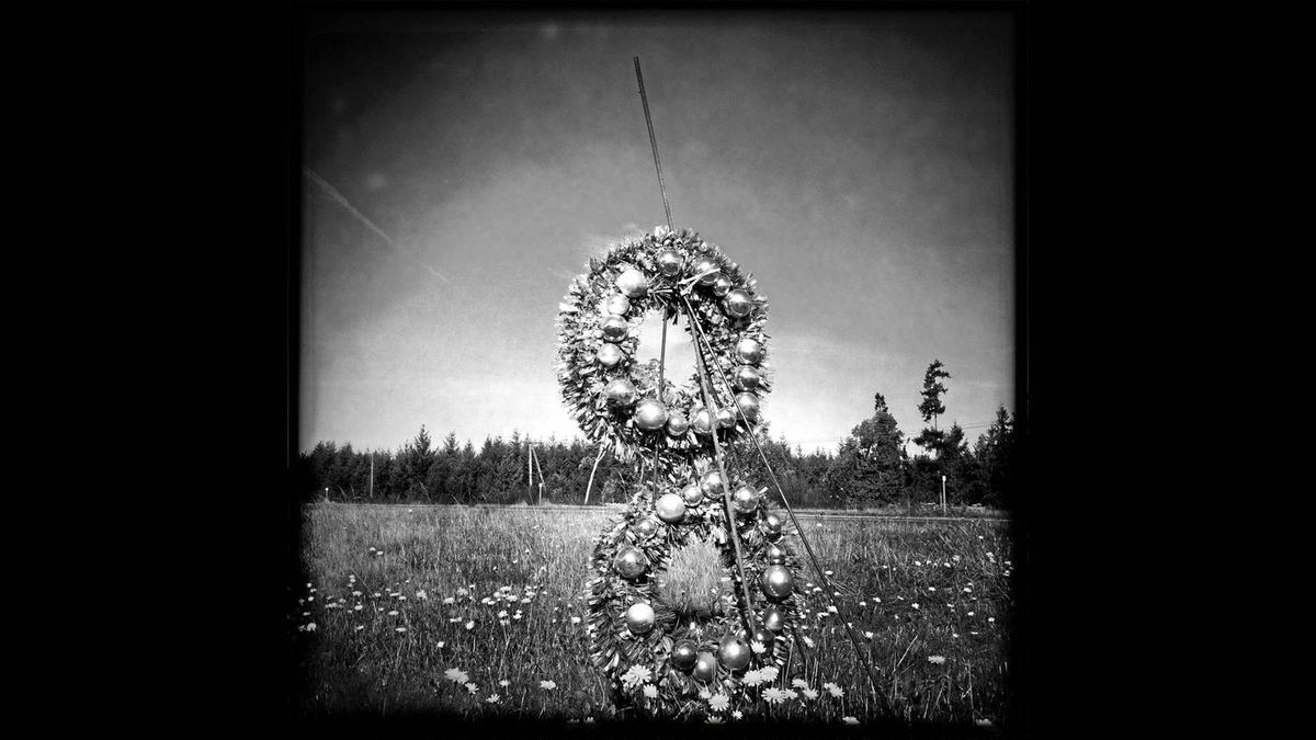 A roadside memorial near Parksville, B.C. along the Inland Island Highway.
