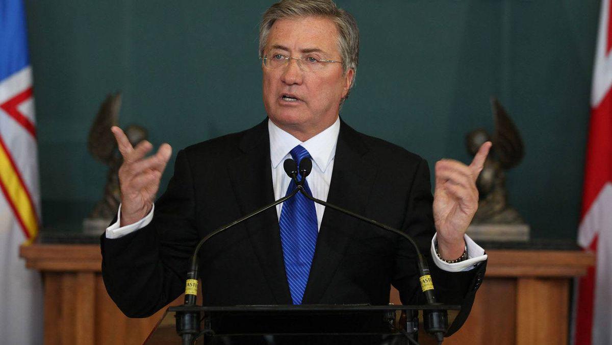 Newfoundland and Labrador Premier Danny Williams announces his resignation in St. John's.
