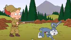 Screen grab from YouTube video of offending scene in 'Family Guy' episode