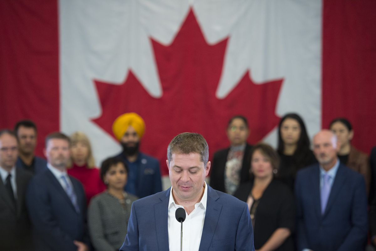 Scheer vows to bring in mandatory minimums for smuggled guns if elected - The Globe and Mail