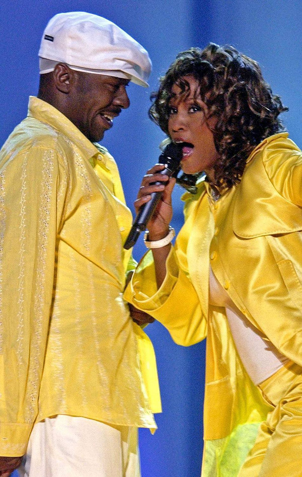Ms. Houston and her then-husband, musician Bobby Brown, perform during the VH1 Divas duet show in Las Vegas in May, 2003. The two divorced four years later after a tumultuous marriage that included charges of domestic abuse against Mr. Brown in 1993.