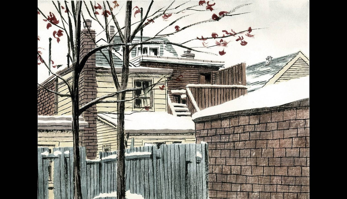 Graphic novel illustrator Michael Cho�s new book, Back Alleys and Urban Landscapes