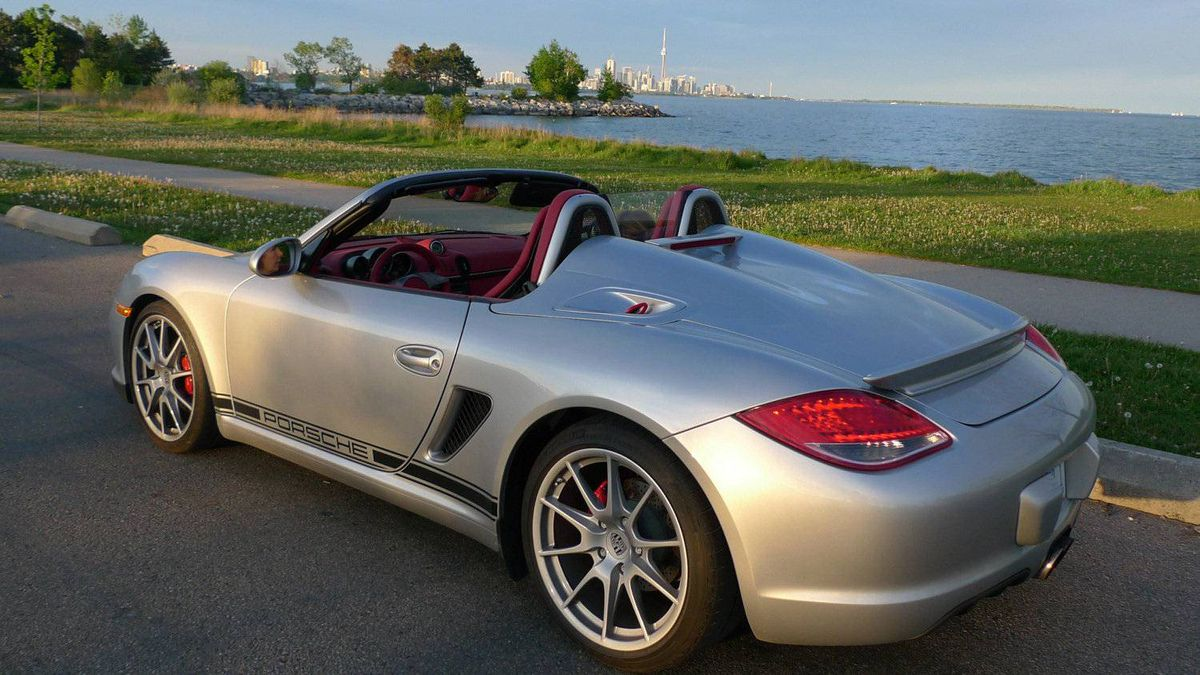 Porsche Boxster Spyder: By making a few strategic changes to the popular Boxster, Porsche produced a convertible that harks back to the 1950s. Among those changes? A lightweight, manually-operated top that must be assembled like a pup tent.