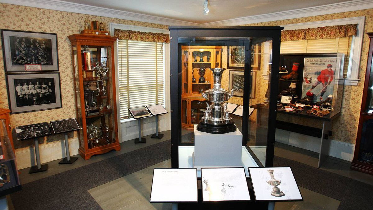 The hockey museum in Windsor, Nova Scotia, October 21, 2011.