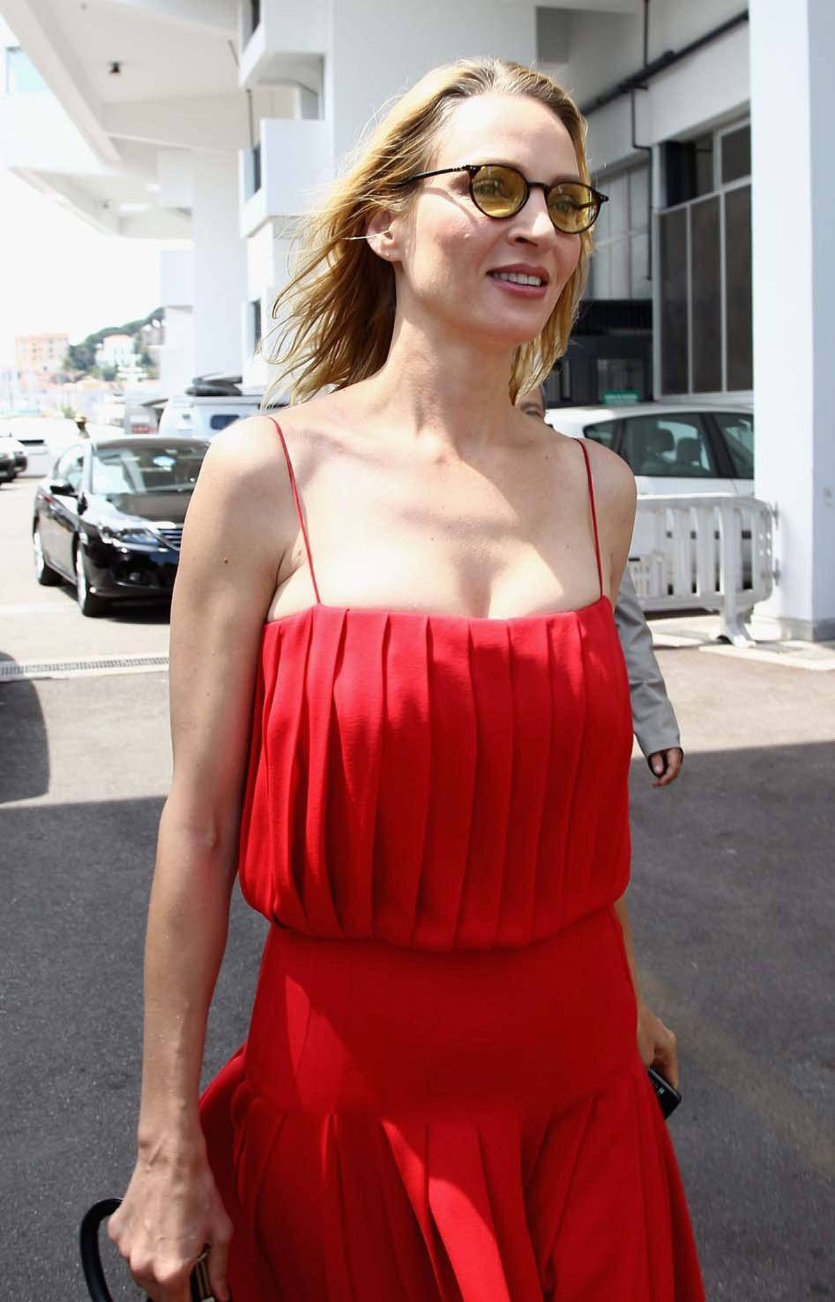 Actress Uma Thurman at the Cannes Film Festival on Wednesday.