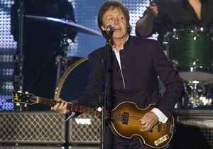 Paul McCartney performs during his open air concert on the Halifax Commons.