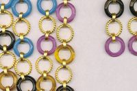 Some costume jewellery by the Estelle line made by Normak Fashions, based in India.