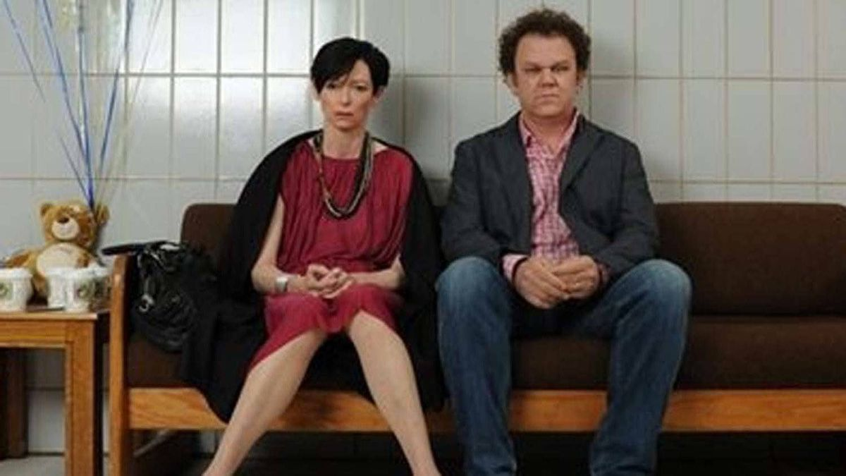 "Tilda Swinton and John C. Reilly in a scene from ""We Need to Talk About Kevin"""