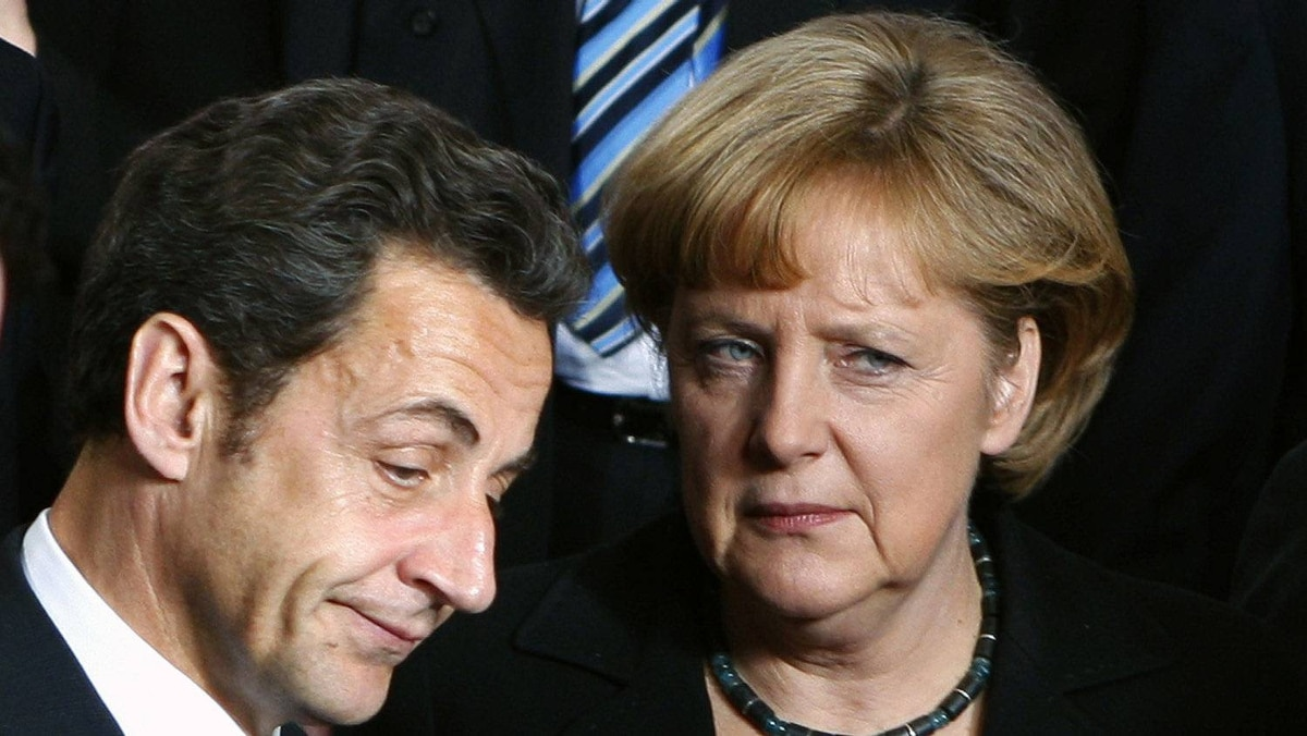 France's President Nicolas Sarkozy and Germany's Chancellor Angela Merkel.