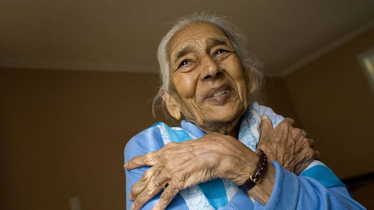 Chandrakanta Das, 87, remembers hugging her grandchildren for the first time.