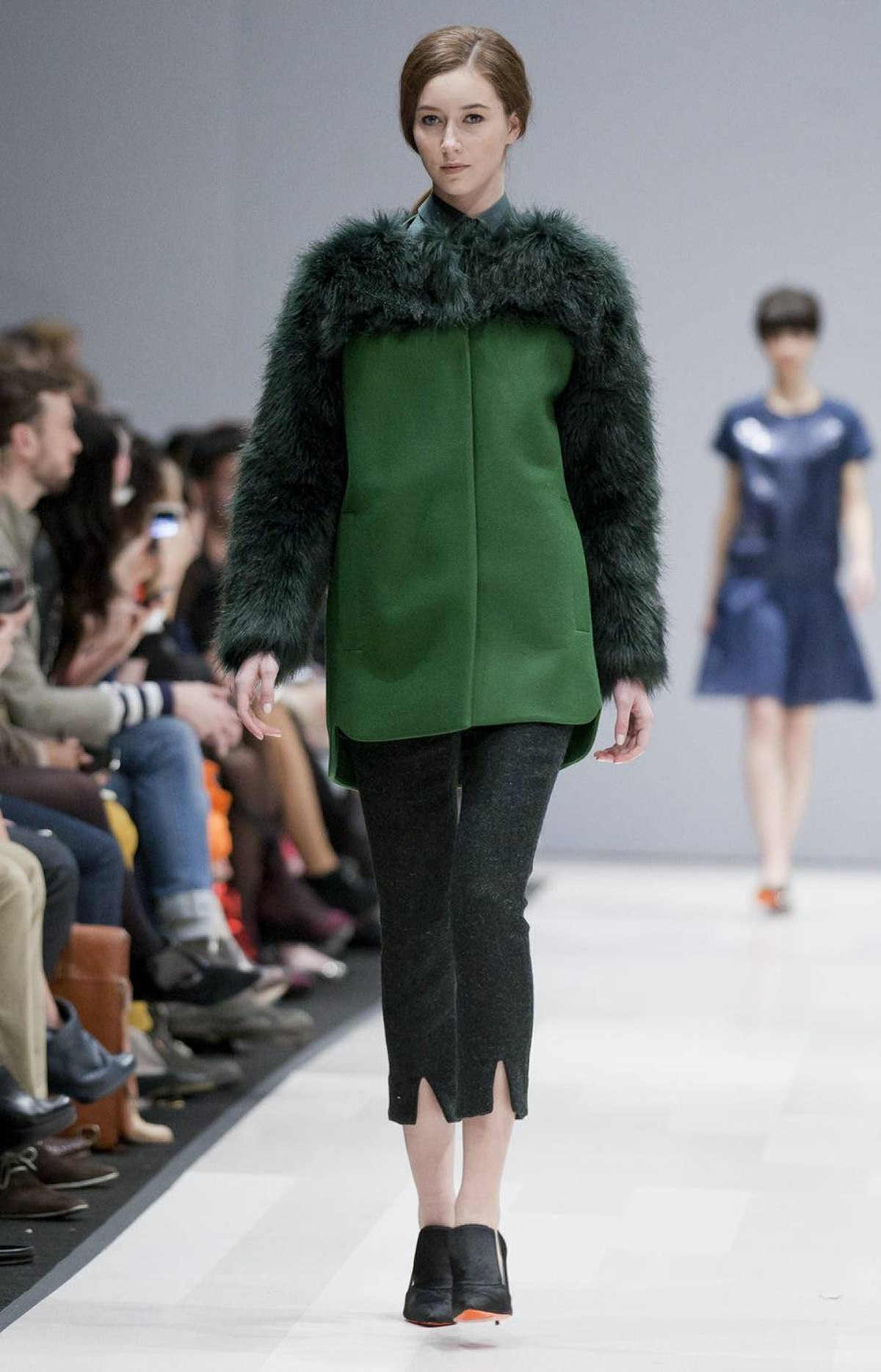 Many Toronto Fashion Week designers played with fur, both real and faux, this season. At Joe, the faux stuff appeared most effectively in the form of big, lush sleeves on an otherwise sleek wool coat.