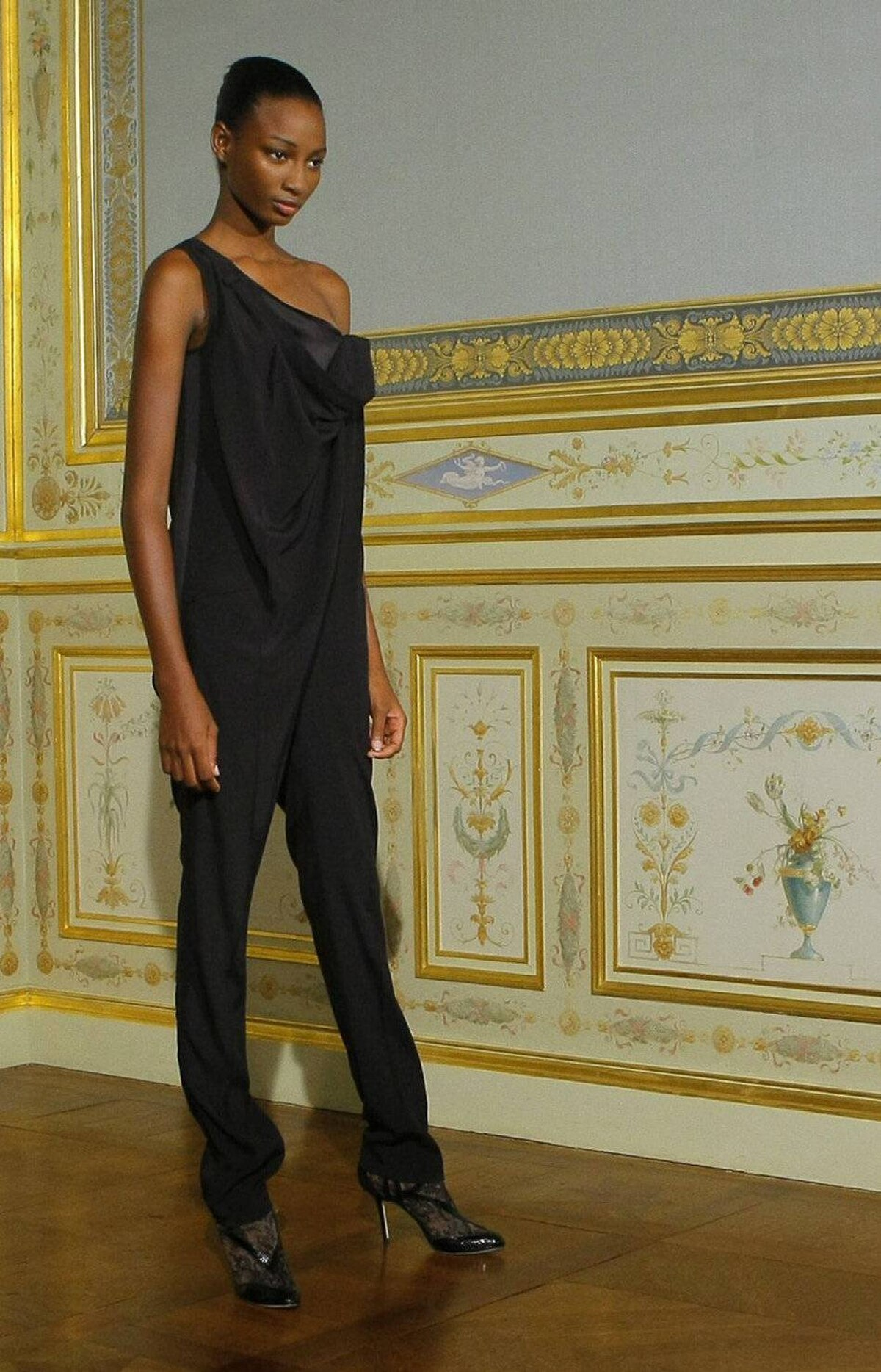 A model wears a creation by Anne Valerie Hash for the Fall-Winter 2011-2012 Haute Couture fashion collection presented in Paris, Monday, July 4, 2011. The Hash collection celebrates its tenth anniversary.