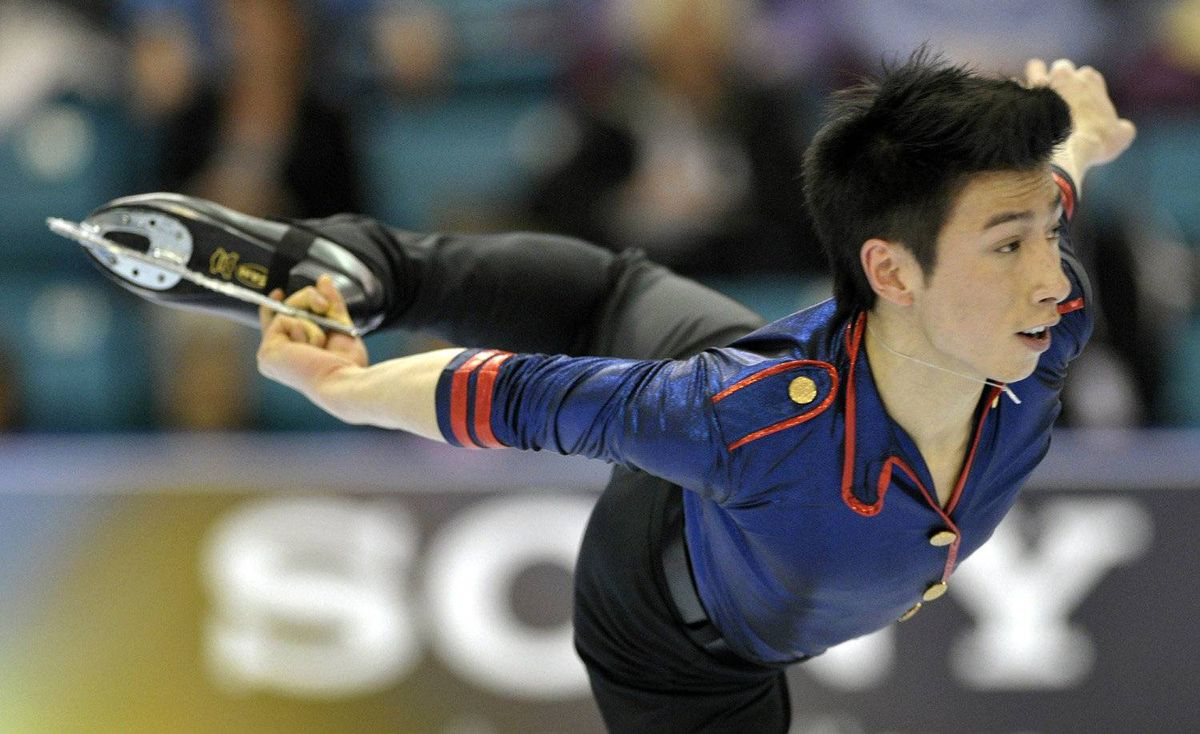 Jeremy Ten skates during the Men short program at the Canadian Figure Skating Championships in Moncton, New Brunswick January 21, 2012.