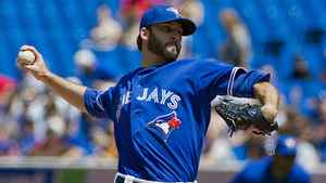 Toronto Blue Jays pitcher Brandon Morrow pitches against the New York Mets during first inning MLB action in Toronto Saturday May 19, 2011.
