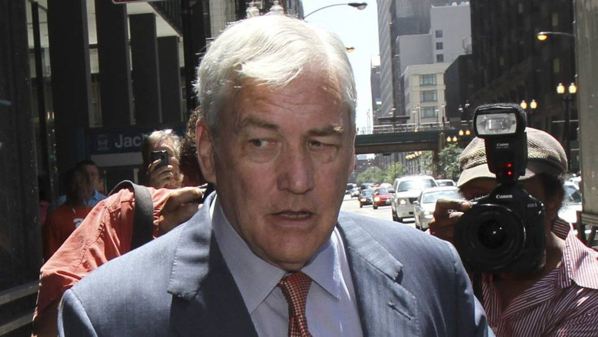 Conrad Black leaves his bail hearing in Chicago on Friday after his release from prison on a $2-million bond.