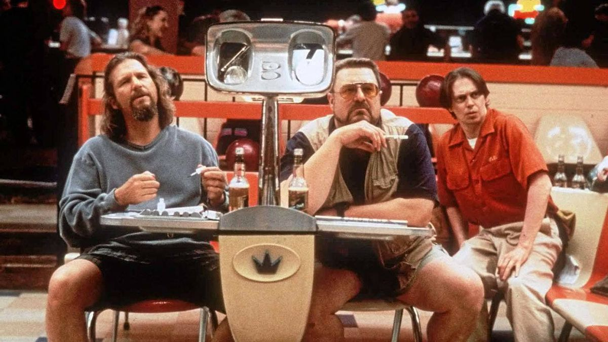 "An obvious choice for the list: Jeff Bridges, left, John Goodman, centre, and Steve Buscemi in a scene from ""The Big Lebowski."""