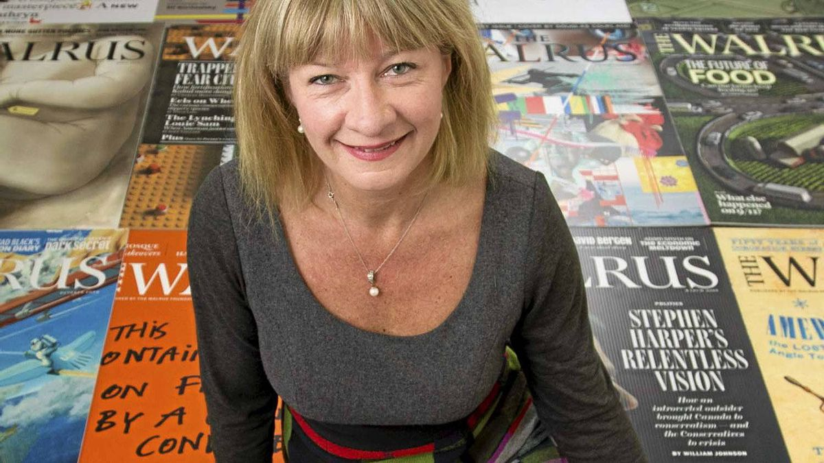 Shelley Ambrose, co-publisher of The Walrus, in the publication's offices in Toronto on Jan. 6, 2012.