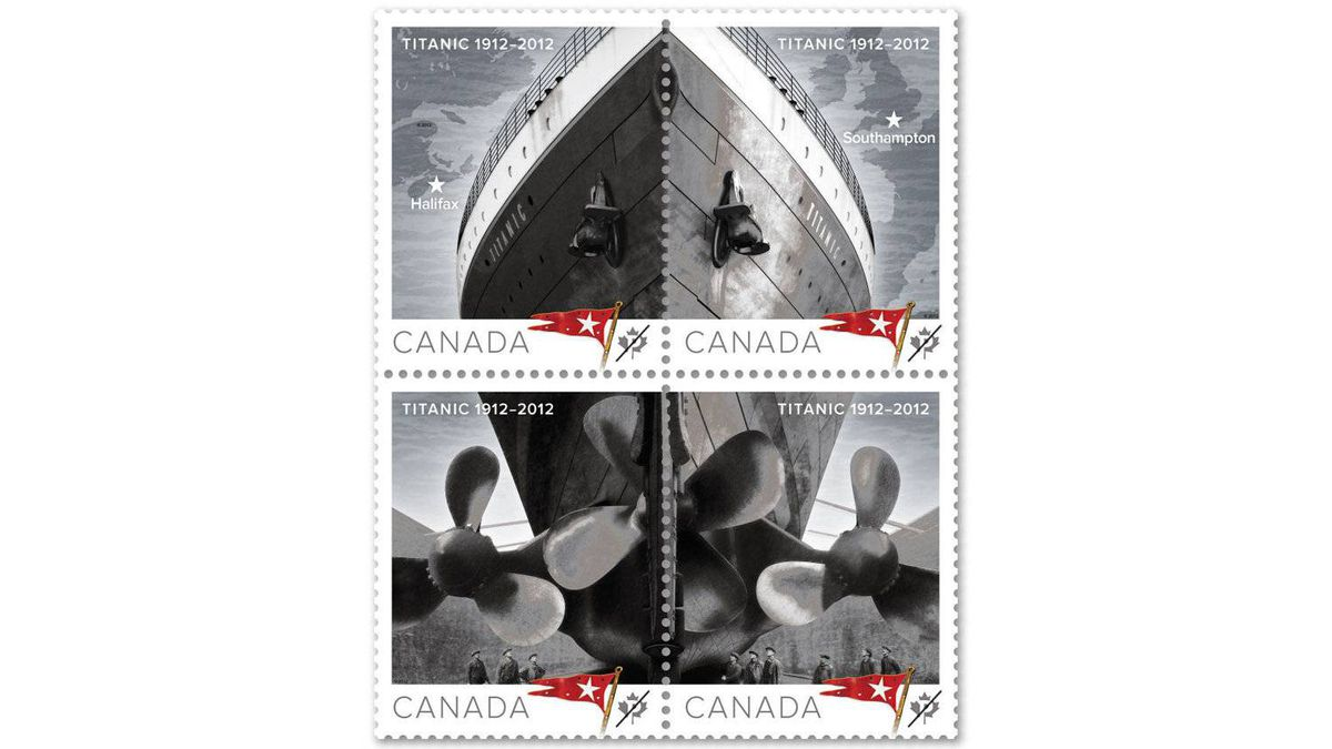 Canada Post unveiled today the images of the five stamps that will be issued on April 5 to mark the centennial of the sinking of RMS Titanic.