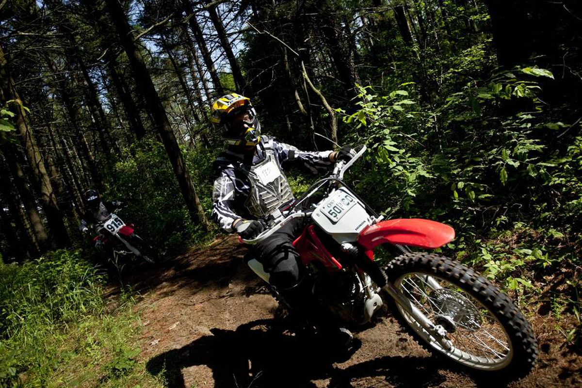 Bombing through Ganaraska Forest in Ontario on motorcycles and ATVs, student volunteers are testing the fitness benefits of off-road riding.