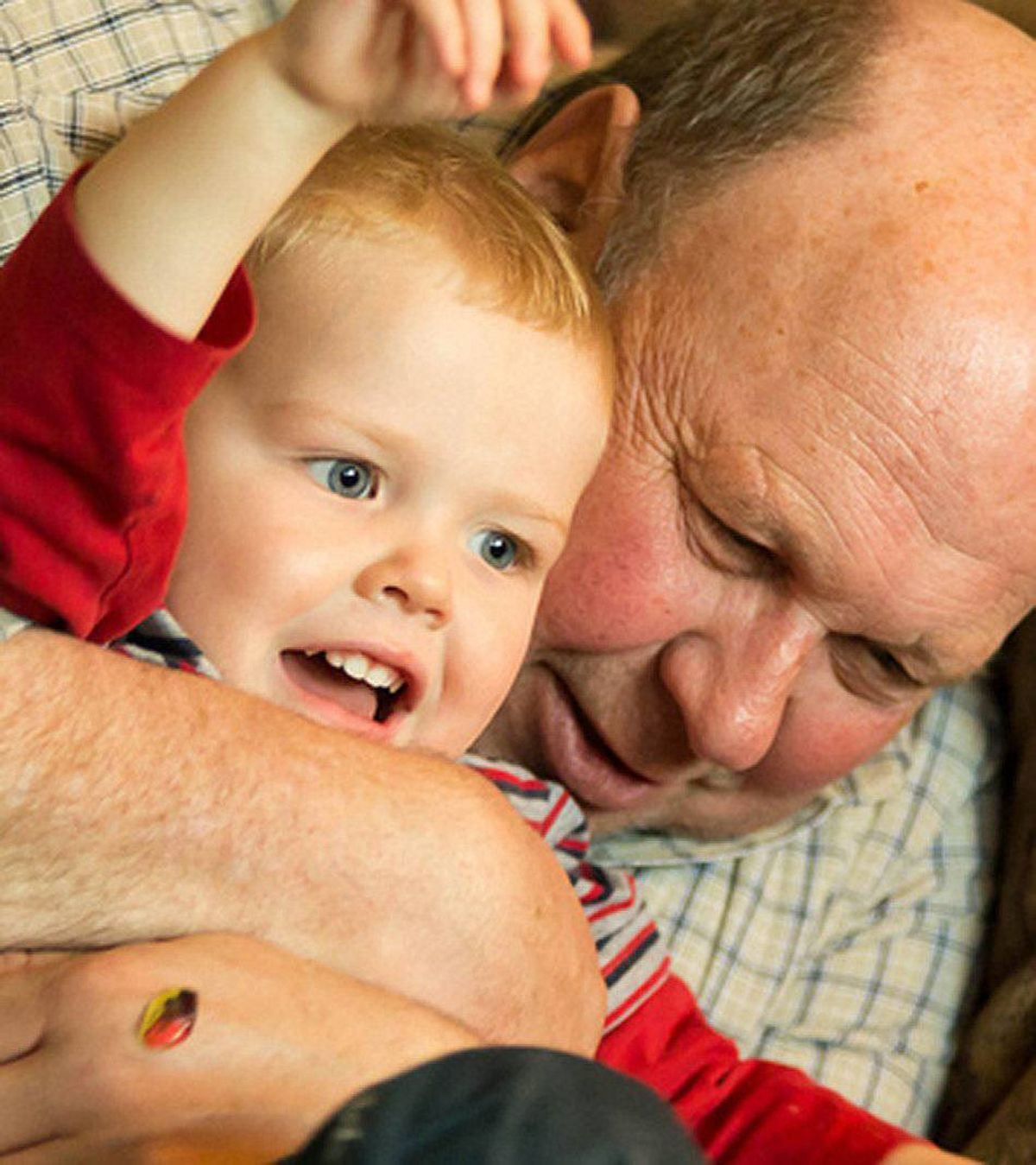 Hugs from grandpa