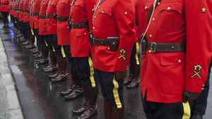 Richmond RCMP parade in front of the newly unveiled $36-million Richmond Community Safety Building, which houses the headquarters of the Richmond RCMP, Nov. 7, 2011.