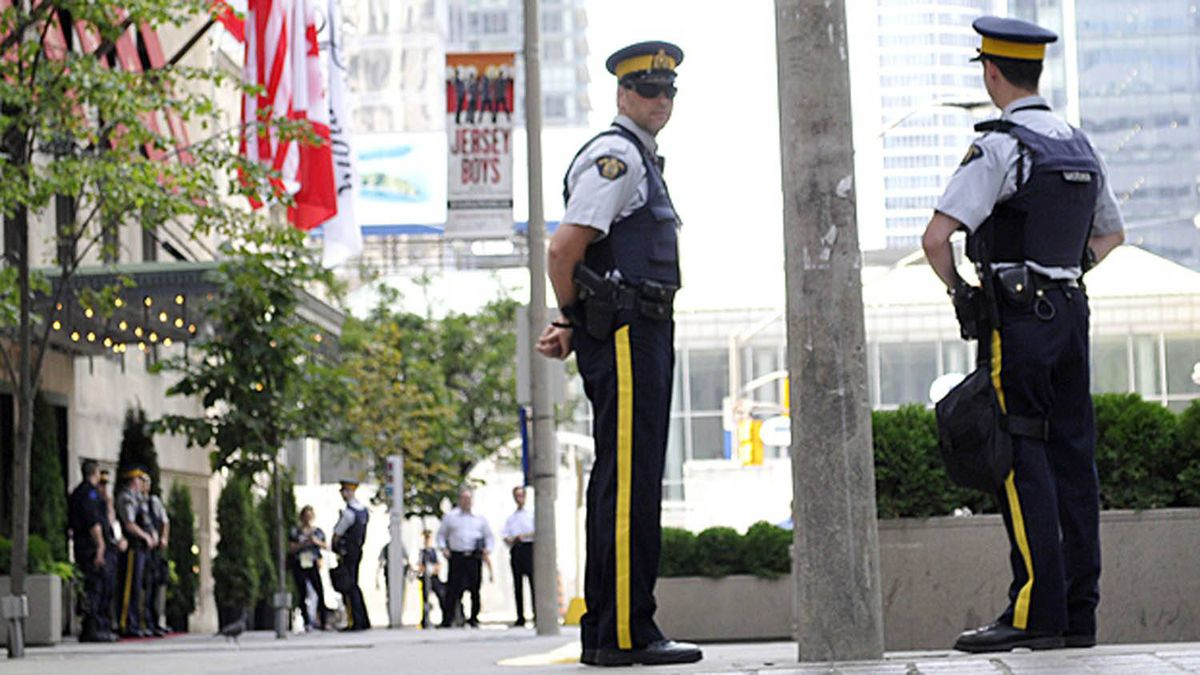 RCMP officers in Toronto. Roger Hallett for The Globe and Mail
