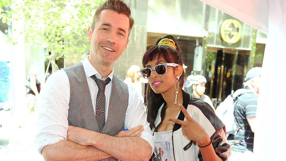 Musicians Royal Wood and Anjulie at Celebrate Bloor