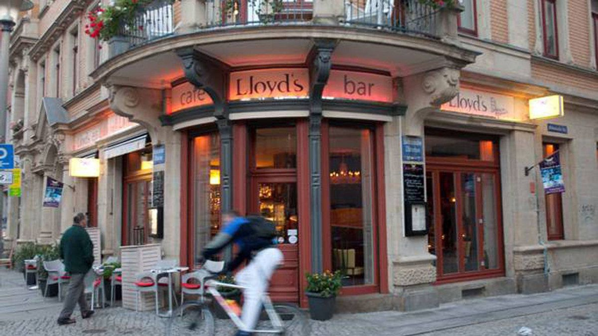 Lloyd's Bar in the Outer Neustadt Neighbourhood, Dresden, Germany.