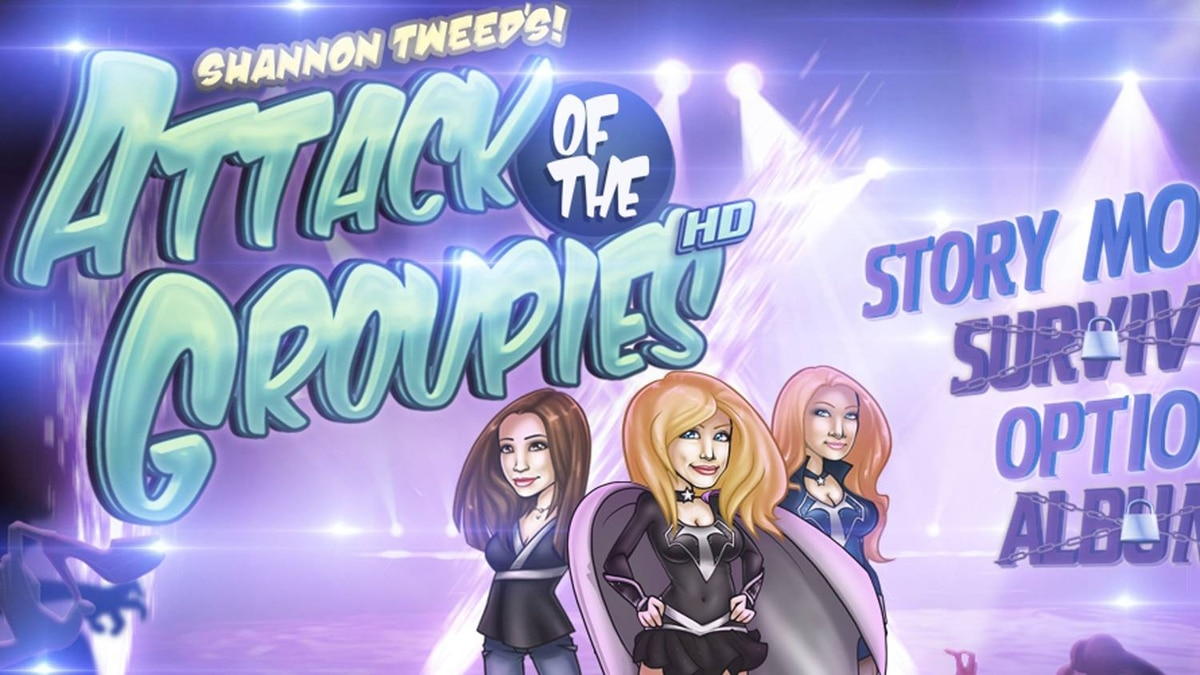 Shannon Tweed's Attack of the Groupies game developed by Gogii Games
