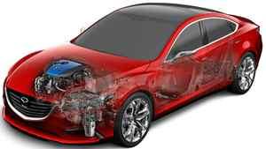 Mazda's i-ELOOP regenerative braking system.