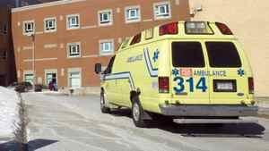 An ambulance arrives at a Quebec hospital.