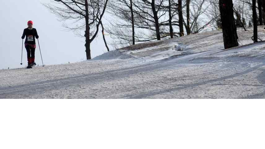 A snowshoer makes their way along a path at Craigleith Ski Club on Feb. 20, 2011. A teen died on Feb. 20, 2012, at the ski club.