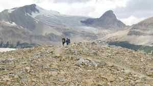 hikers in Yoho National Park, BC, Canada