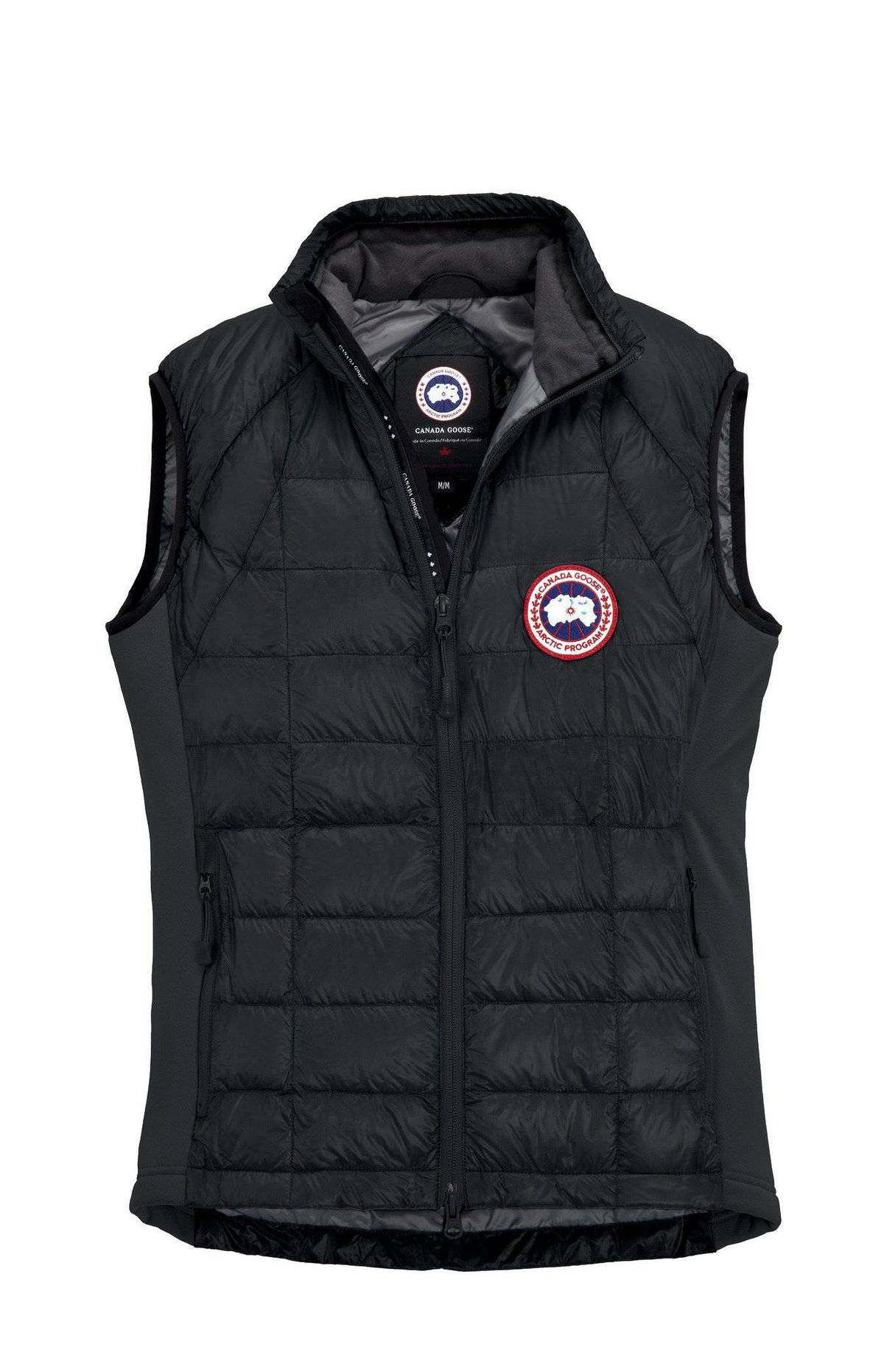 Get cozy Add an extra layer of warmth with Canada Goose's Hybridge Lite Vest. The fitted quilted vest is insulated with 800-fill-power Hutterite white goose down and has extra stretch in the armholes and sides to ensure comfortable manoeuvring. It also tucks into its own exterior pocket, making it easy to pack and store. $350; canada-goose.com