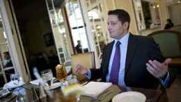 Carson Block, founder of short-selling research firm Muddy Waters, speaks during an interview with Reuters in Washington, April 2, 2012. Mr. Block, 35, is perhaps the best known member of a group of short-selling investors and financial bloggers who allege fraudulent accounting practices among some China-based companies with U.S. or Canadian stock listings.