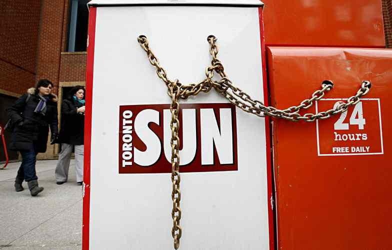 Quebecor-owned Sun Media owns dozens of weekly and daily newspapers across the country.