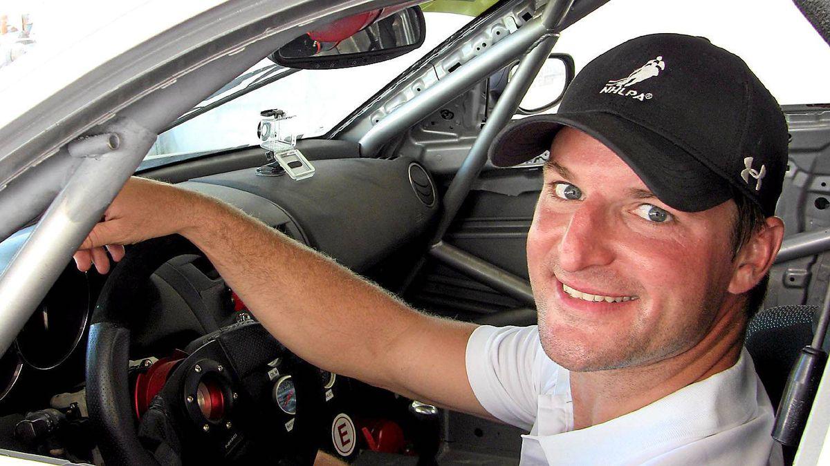 Off the track, Marc André Bergeron drives a 2005 Cadillac Escalade.