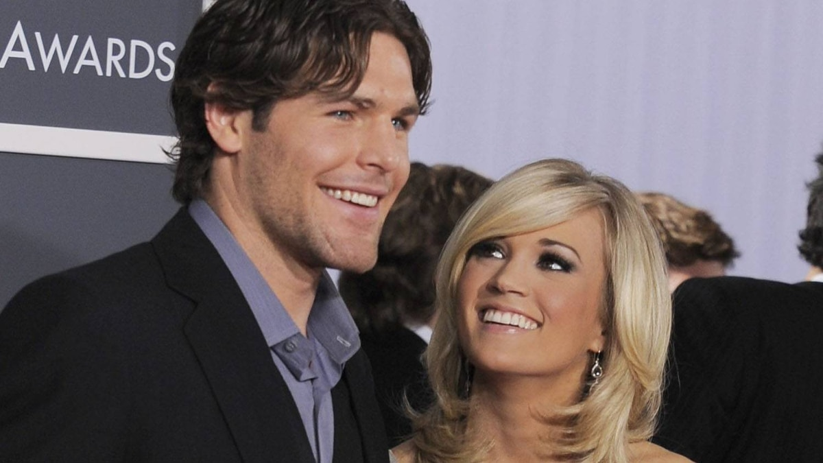 Carrie Underwood and Mike Fisher arrive at the Grammy Awards in Los Angeles in this Jan. 31, 2010 file photo. Chris Pizzello/AP
