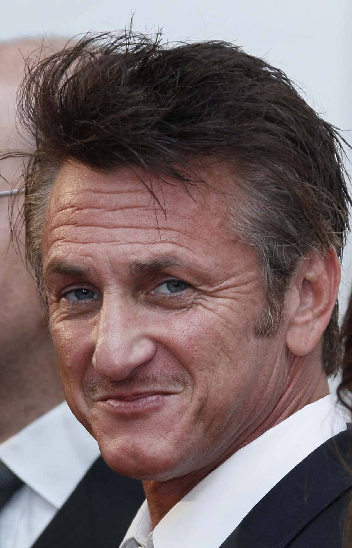 Sean Penn arrives for a dinner organised by the Cinema For Peace foundation at the Cannes Film Festival on Wednesday.