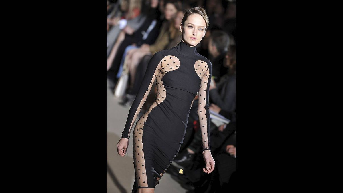 A model walks the runway during the Stella McCartney Ready to Wear Autumn/Winter 2011/2012 show during Paris Fashion Week at Opera Garnier on March 7, 2011 in Paris, France.
