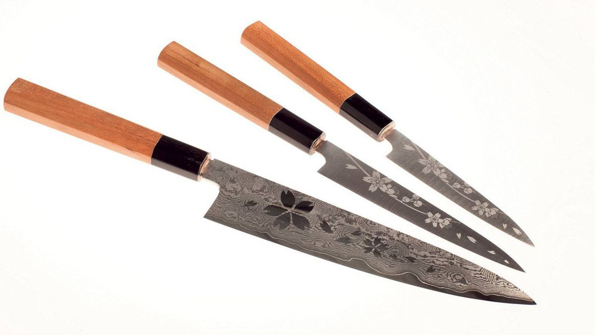 Konosuke engraved knives
