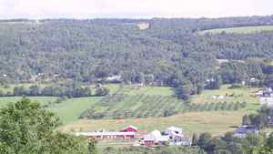 Looking out over the Gaspereau Valley from the Ridge Road near Wolfiville