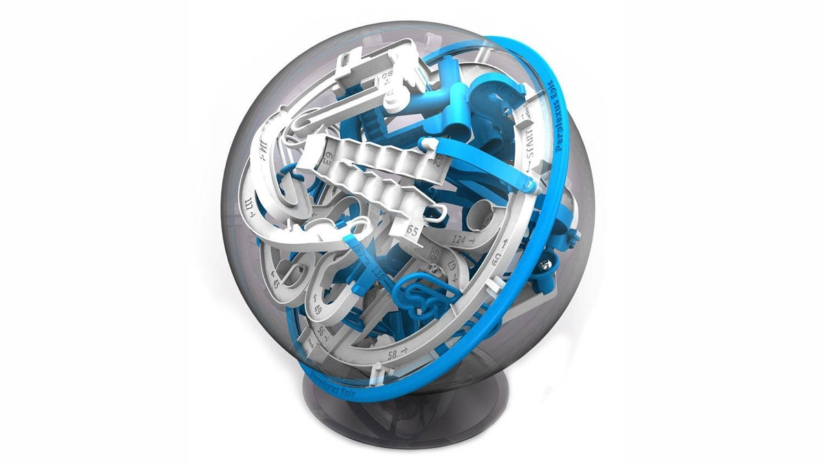 "Perplexus Epic 3-D maze The easiest way to break the brains of your fellow family members this holiday is to let them play with this ""professional"" 3-D labyrinth. Players twist and rotate a 21-centimetre sphere containing 125 separate barriers in an attempt to make a steel ball roll along a narrow track without falling. It's self-contained, suitable for all ages and a smart alternative to screen-based entertainment during lengthy car rides. ($29.99; www.mastermindtoys.com)"