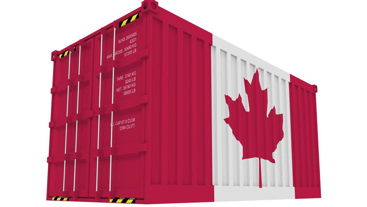 A shipping container is seen in this file photo.